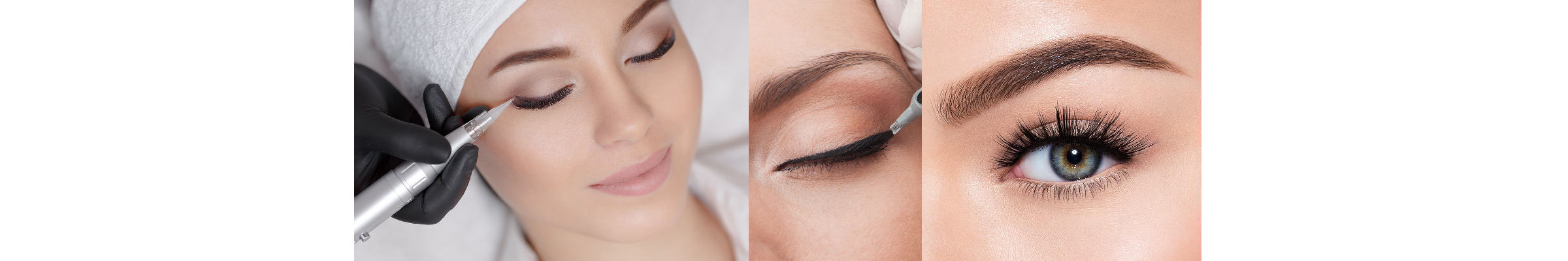 Permanent Eyeliner and Lash Enhancement Liner on Pretty Lady