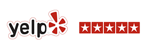 Yelp Logo Five Star Reviews